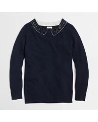 J.Crew Factory Embellished Sweater - Lyst