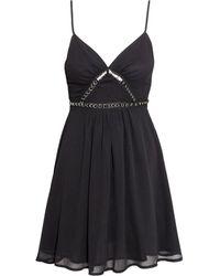 H&M Sleeveless Chiffon Dress - Lyst