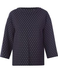 Thakoon Polka Dot Cut Out Back Top - Lyst