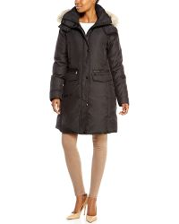 Andrew Marc X Richard Chai Darby Real Fur Trim Coat - Lyst