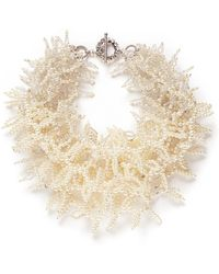 Miriam Haskell Multiple Strand Pearl Bead Necklace - Lyst