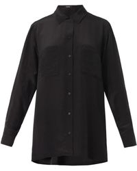 Freda Patchpocket Silk Blouse - Lyst