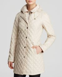 Laundry by Shelli Segal Coat - Hooded Diamond Quilted Zip Bib - Lyst