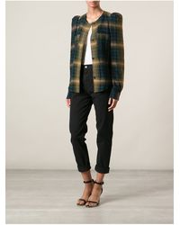 Isabel Marant Checked Top - Lyst