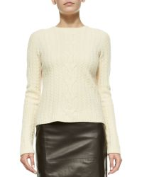 The Row Wool/Cashmere Cable-Knit Sweater - Lyst
