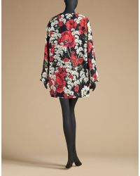 Dolce & Gabbana | Coat In Poppy Print Brocade | Lyst