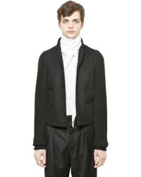 Christophe Lemaire | Lambswool Knit & Felt Jacket | Lyst