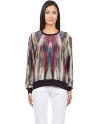 Nicole Miller Silk Sweatshirt - Lyst