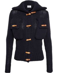 Acne Studios Margarites Cable Knit Cardigan - Lyst