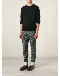 Etro Floral Print Chino Trousers - Lyst