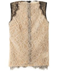 Antonio Berardi Bicolour Lace Top - Lyst