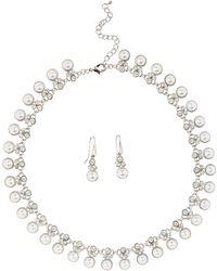 Jacques Vert   Pearl Diamante Jewellery Set   Lyst