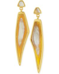 Maiyet - Himalayan Headdress Earrings With Natural Horn - Lyst