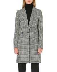Paul Smith Herringbone Wool-blend Coat - Lyst