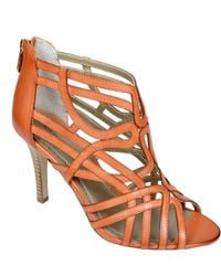 Adrienne Vittadini Gusty Leather Strappy Sandals - Lyst