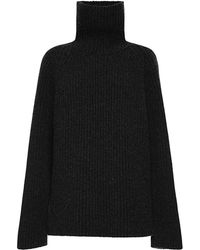 Antonio Berardi Ribbed Cashmere Turtleneck - Lyst