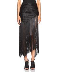 Proenza Schouler Solid Basket Weave Fringe Skirt - Lyst