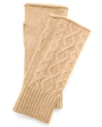 Club Monaco - Lena Cashmere Cable Gloves - Grey - Lyst