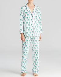Marigot Collection - Emerald Owl Long Pajama Set - Lyst
