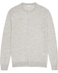 Reiss | Labrynth Merino Wool Cardigan | Lyst