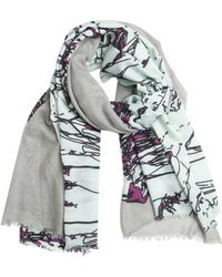 Mir | Purple Cashmere Knit 'mountains' Scarf | Lyst