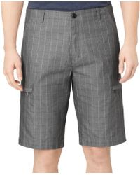Calvin Klein Windowpane Chambray Twill Shorts - Lyst