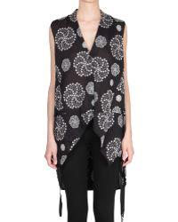 Ann Demeulemeester Sleeveless Embroidered Top - Lyst