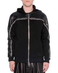 Givenchy Nylonneoprene Zip-up Sweatshirt - Lyst