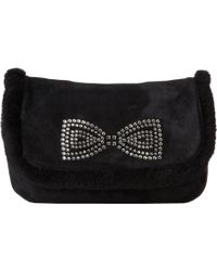 Ugg Allloway Crystal Bow Clutch - Lyst