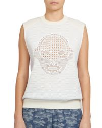 Stella McCartney Eyelet Applique Top white - Lyst