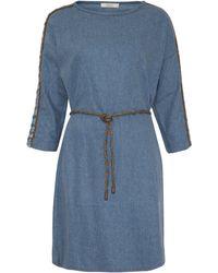 Sessun - Blue Emiko Boucle Sleeve Denim Dress - Lyst