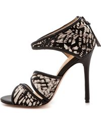 L.a.m.b. Waren Print Haircalf Sandals  - Lyst