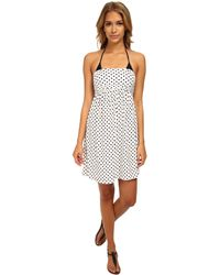 DKNY Lets Hear It For The Dots Smocked Dress Cover-Up - Lyst