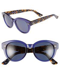Gucci 50Mm Retro Sunglasses blue - Lyst
