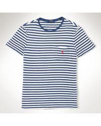 Polo Ralph Lauren Striped Jersey Pocket T-Shirt - Lyst