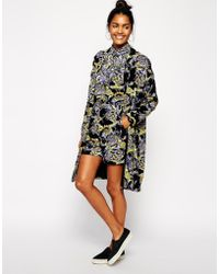 Asos Printed Duster Jacket multicolor - Lyst