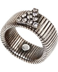 Janis By Janis Savitt | Silver-Tone Stone Accented Coil Ring | Lyst