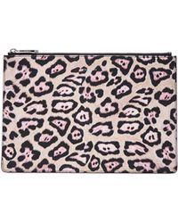 Givenchy Moyen Poche En Toile Enduite Jaguar En Rose, Tons Neutres, Imprimé Animal