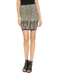 Velvet - Izella Snow Leopard Skirt - Black/Cream - Lyst