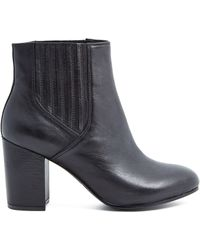 Ash Black Leather Feeling Boots - Lyst