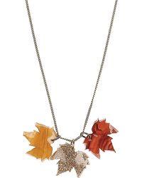 Tatty Devine Fallen Leaves Necklace - For Women - Lyst