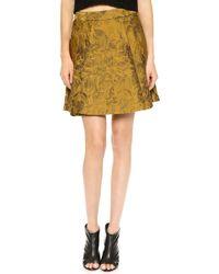 Alice + Olivia Vernon Mini Skirt  - Lyst