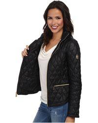 MICHAEL Michael Kors Black Packable Coat - Lyst