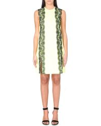 Christopher Kane Lace-detail Split-hem Dress - Lyst
