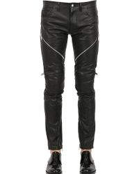 Christian Dada 17Cm Leather Biker Pants - Lyst