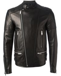 Balenciaga Fitted Biker Jacket - Lyst