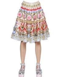 Manish Arora Embellished Silk Skirt - Lyst