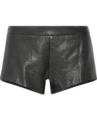 Mason by Michelle Mason Black Leather Shorts - Lyst