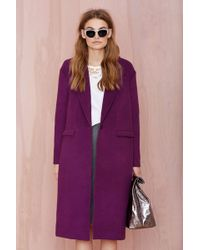 Nasty Gal Cameo No Light Wool Coat - Lyst