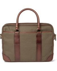 Polo Ralph Lauren Canvas and Leather Briefcase - Lyst